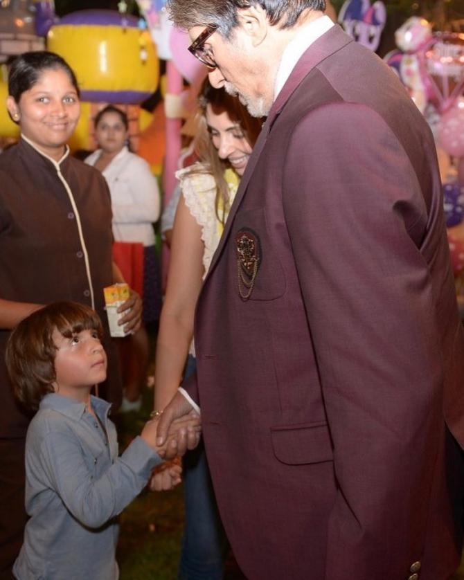 Amitabh Bachchan and AbRam Khan