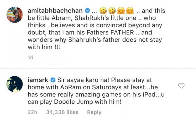 Shah Rukh Khan and Amitabh Bachchan