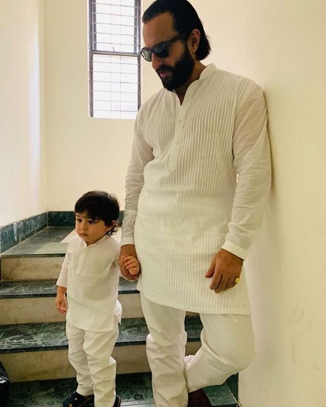 Saif Ali Khan and Taimur Ali Khan
