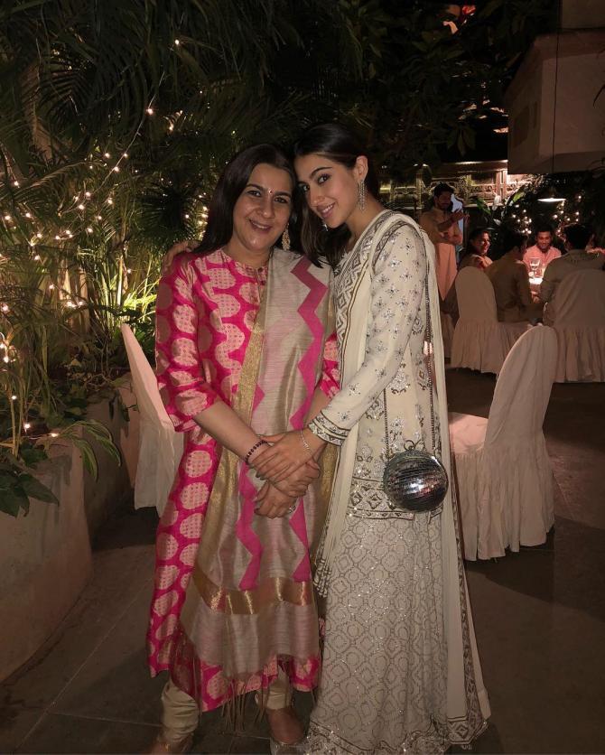 Sara Ali Khan and Amrita Singh