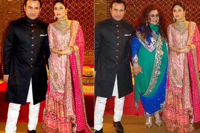 Saif Ali Khan and Kareena Kapoor Khan Reception