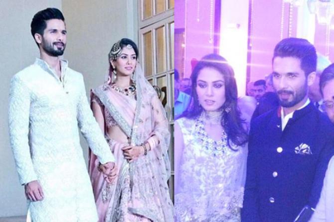Shahid Kapoor and Mira Rajput's Reception