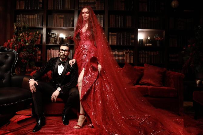 Ranveer Singh and Deepika Padukone Mumbai reception