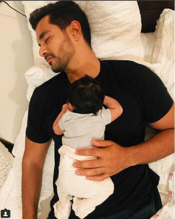 Angad's pic with baby Meher