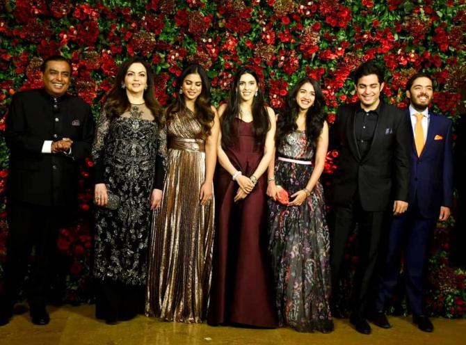 Ambanis at DeepVeer's Mumbai reception