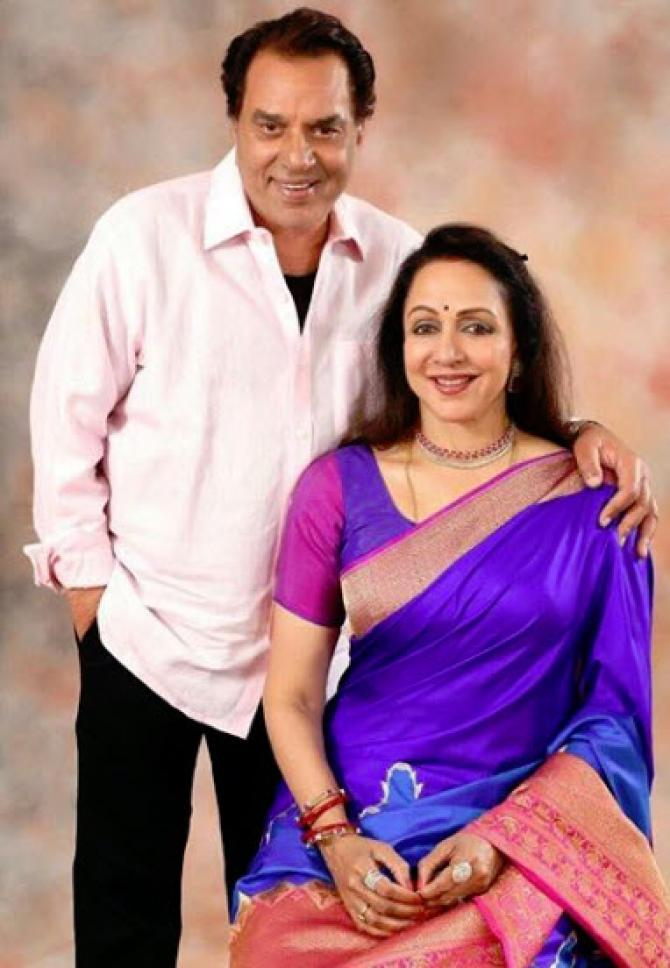 Dharamendra and Hema Malini