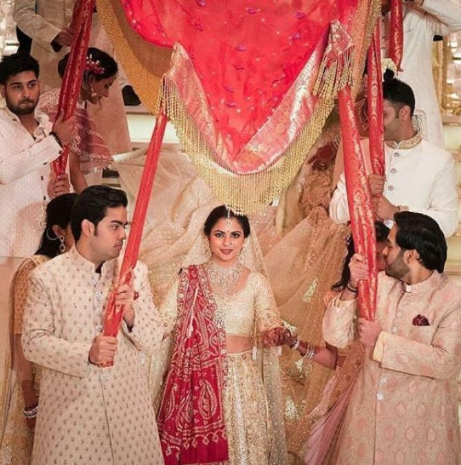 Isha Ambani wedding entry