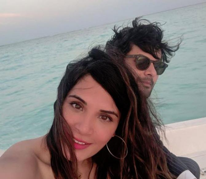 Ali Fazal and Richa Chadha together in Maldives