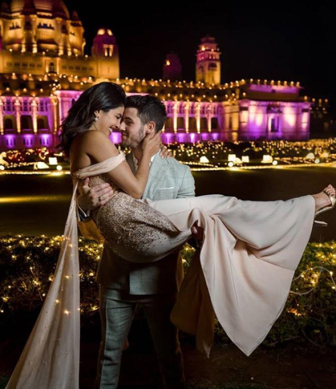 Priyanka and Nick Jonas in Jodhpur