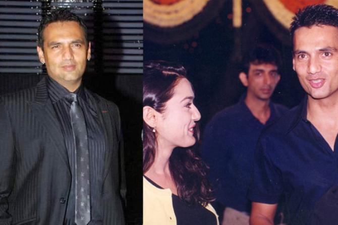 Preity Zinta and Marc Robinson