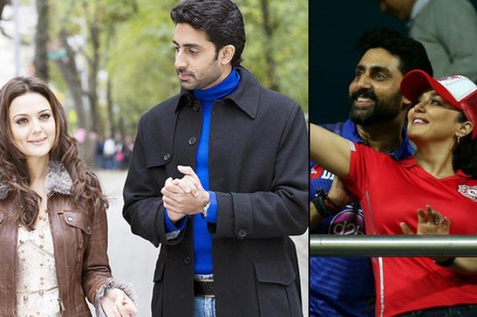 Preity Zinta and Abhishek Bachchan