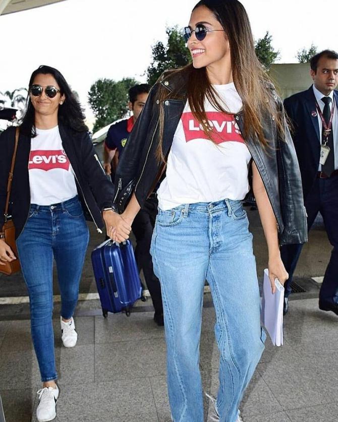 Deepika Padukone and Anisha Padukone