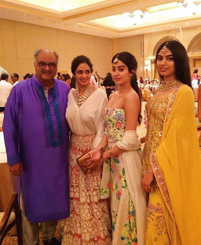 Sridevi, Boney, Janhvi and Khushi Kapoor