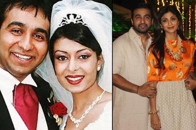 Raj Kundra, Kavita and Shilpa Shetty Kundra