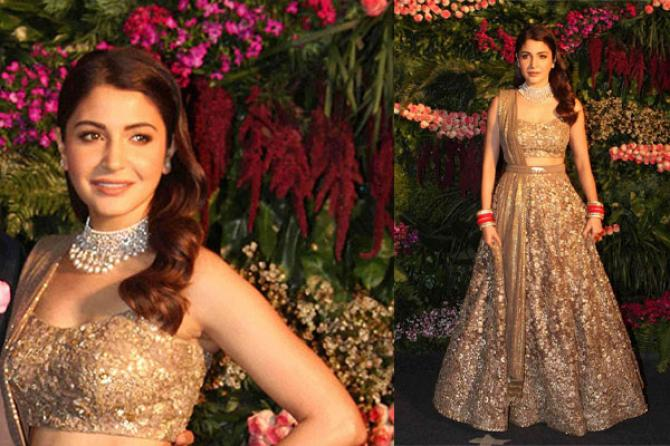 19 Bollywood Brides And Their Wedding Reception Looks That Became A Trend,Diamond Luxury Wedding Dresses
