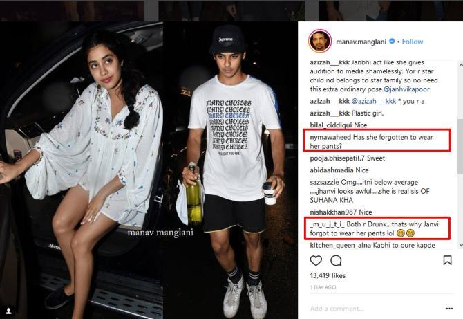 Janhvi Kapoor Trolled For Her Dress