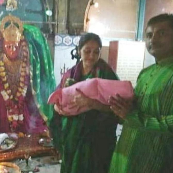 Disha Vakani and Mayur Pandya