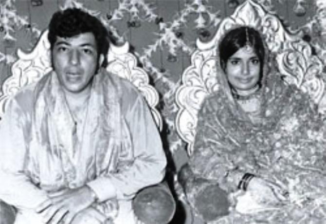 Amjad Khan with wife Shehla Khan