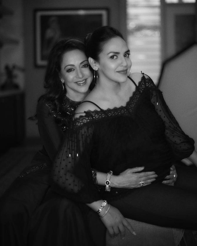 Esha Deol and Hema Malini