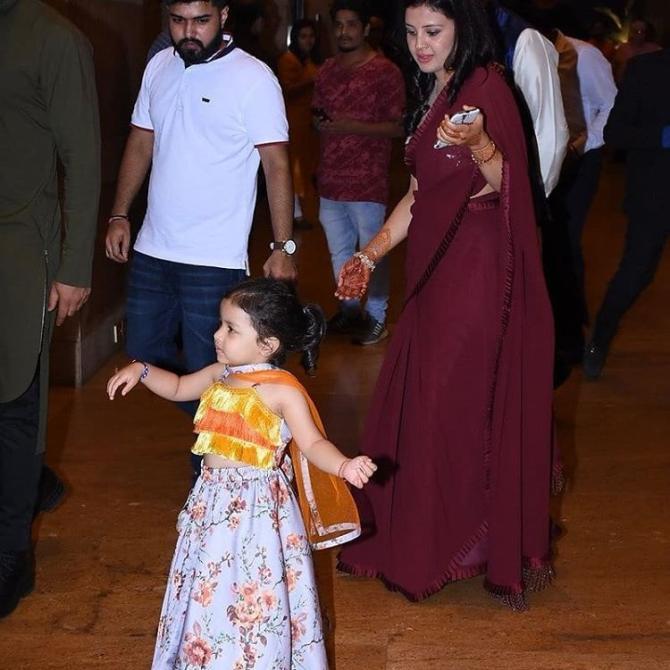 Ziva Dhoni Pics From Poorna Patel Sangeet Ceremony