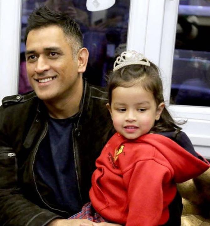 Dhoni and Ziva