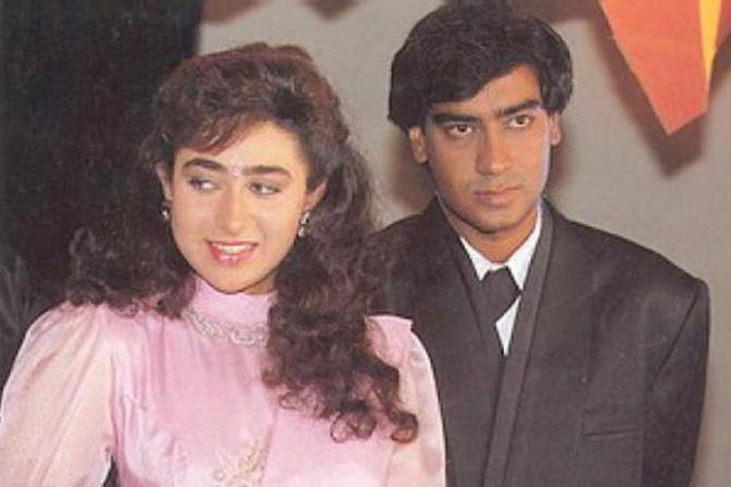 Ajay Devgn and Karisma Kapoor