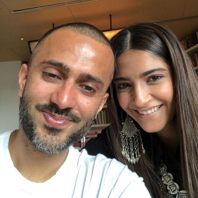 Anand S Ahuja and Sonam Kapoor Ahuja