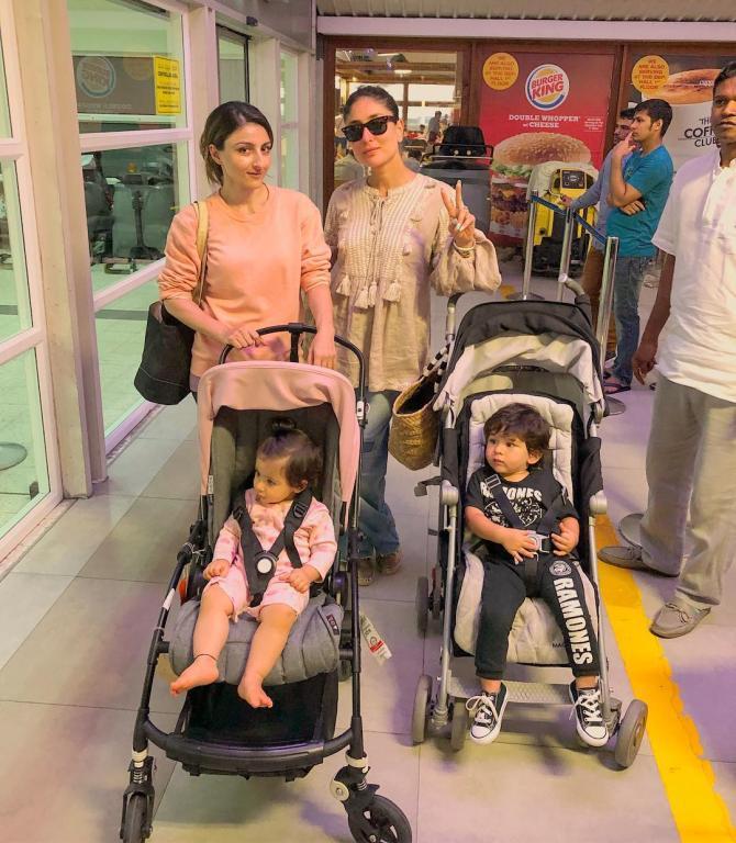 Taimur Inaaya And Mommies Kareena And Soha Chutti Khatam Pic