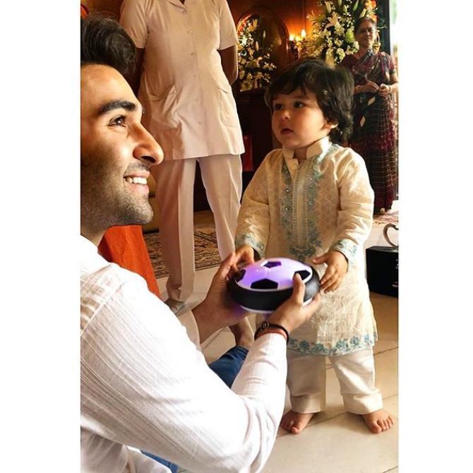 Aadar Jain and Taimur Ali Khan