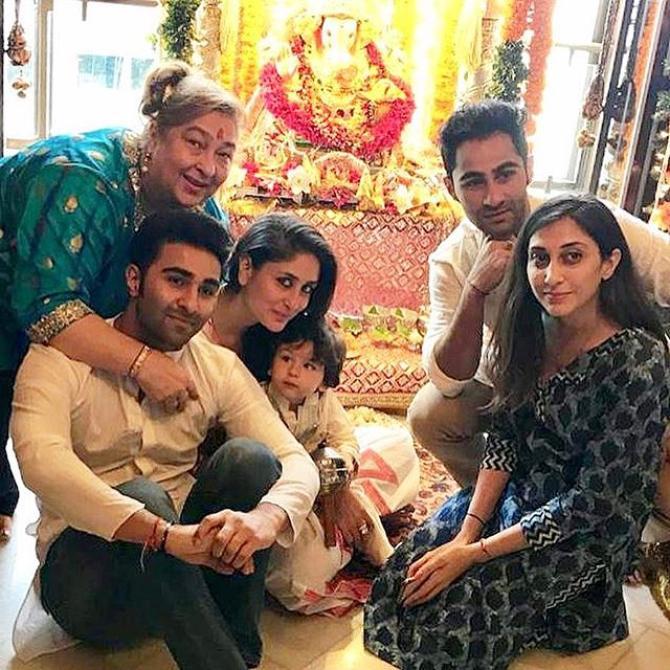 Kareena Kapoor Khan, Aadar Jain, Armaan Jain, Rima Jain and Taimur Ali Khan