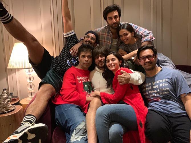 Ranbir-Alia and Ranveer-Deepika party together