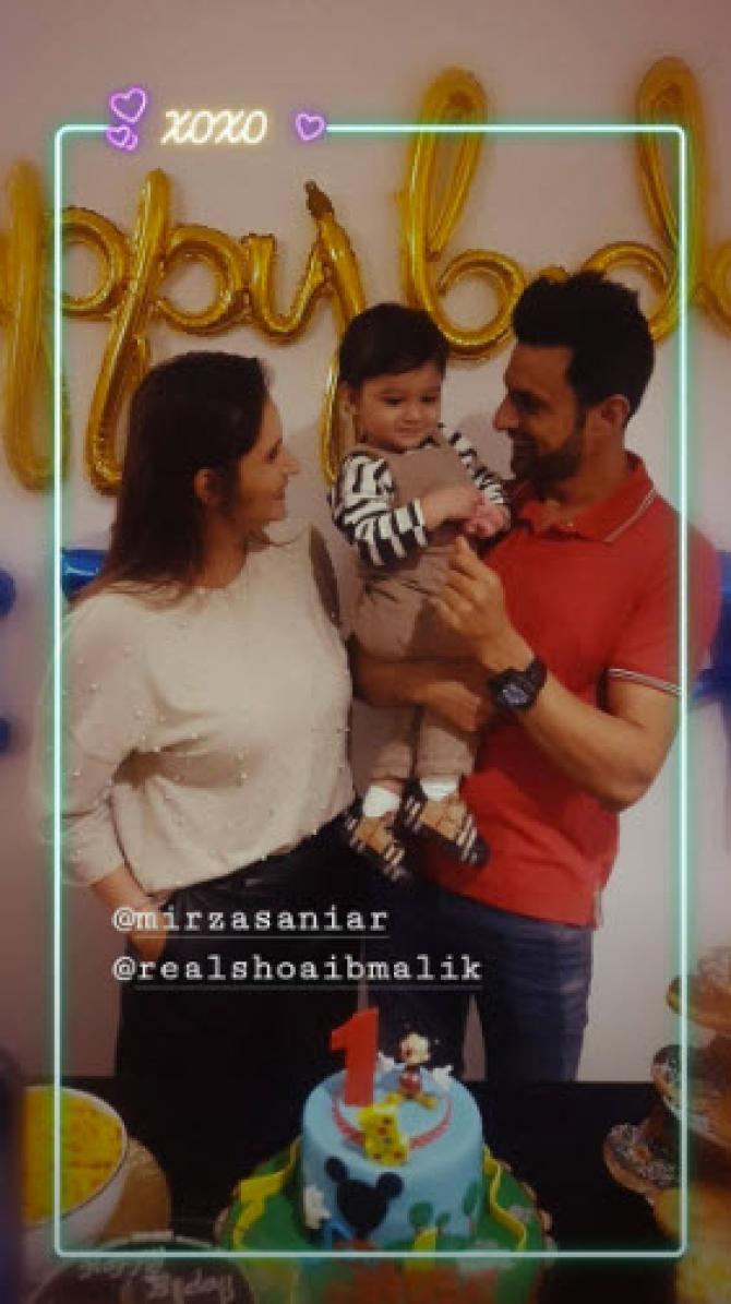 Sania Mirza, Shoaib Malik and Izhaan Mirza Malik