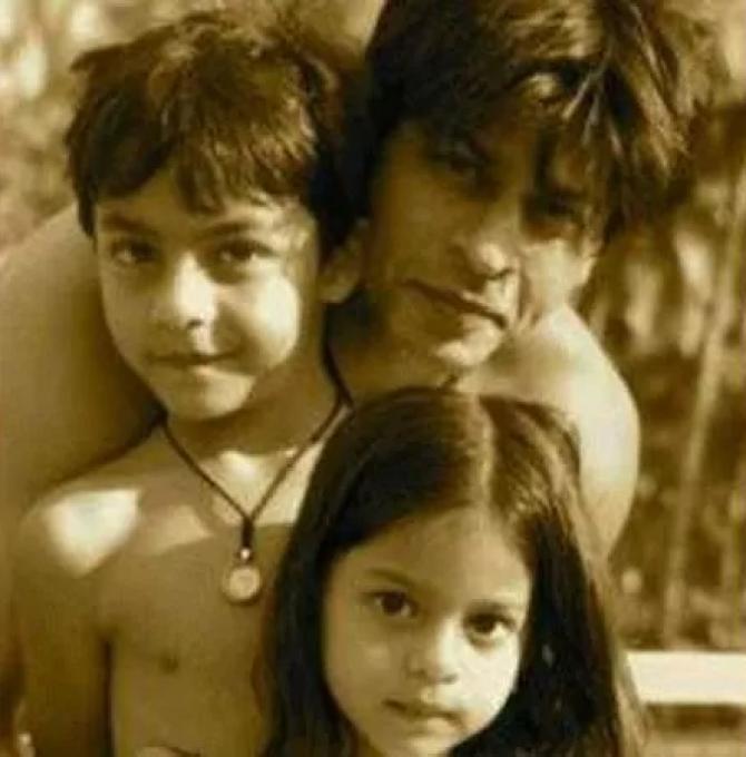 Shah Rukh Khan, Aryan Khan and Suhana Khan
