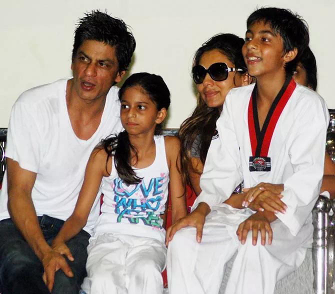 Shah Rukh Khan, Gauri Khan, Aryan Khan and Suhana Khan