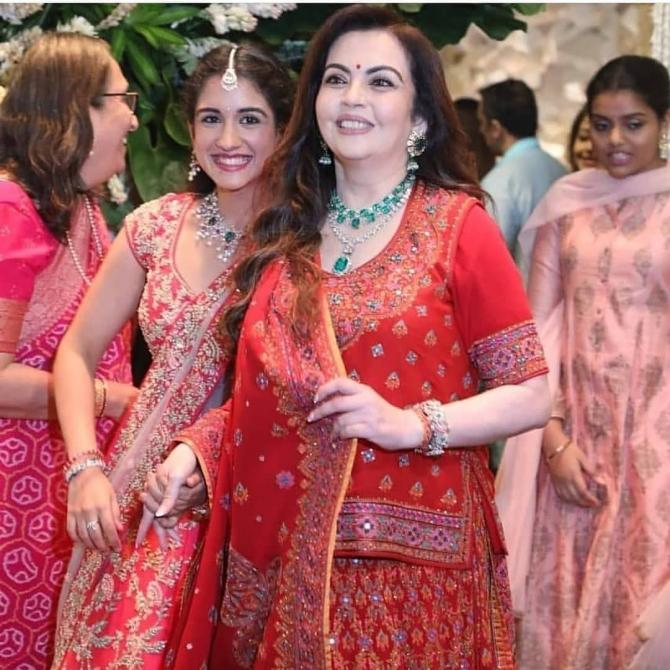 Nita Ambani and Radhika Merchant