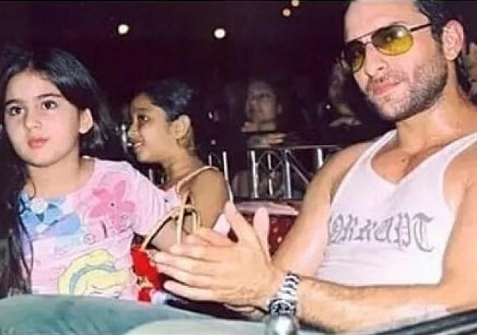 Saif Ali Khan and Sara Ali Khan