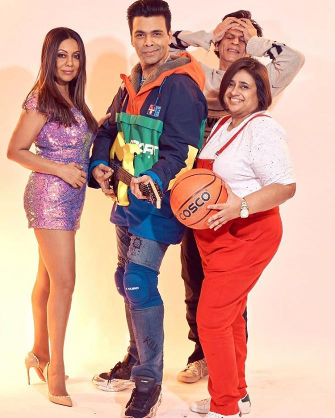 Gauri Khan, Shah Rukh Khan, Karan Johar and Kajal Anand