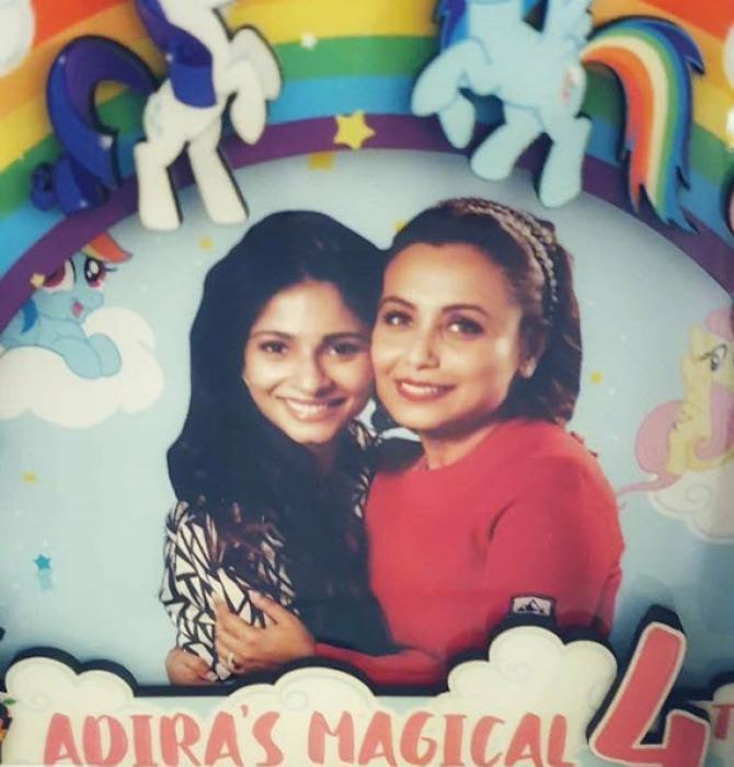 Rani Mukerji and Tanisha Mukerji