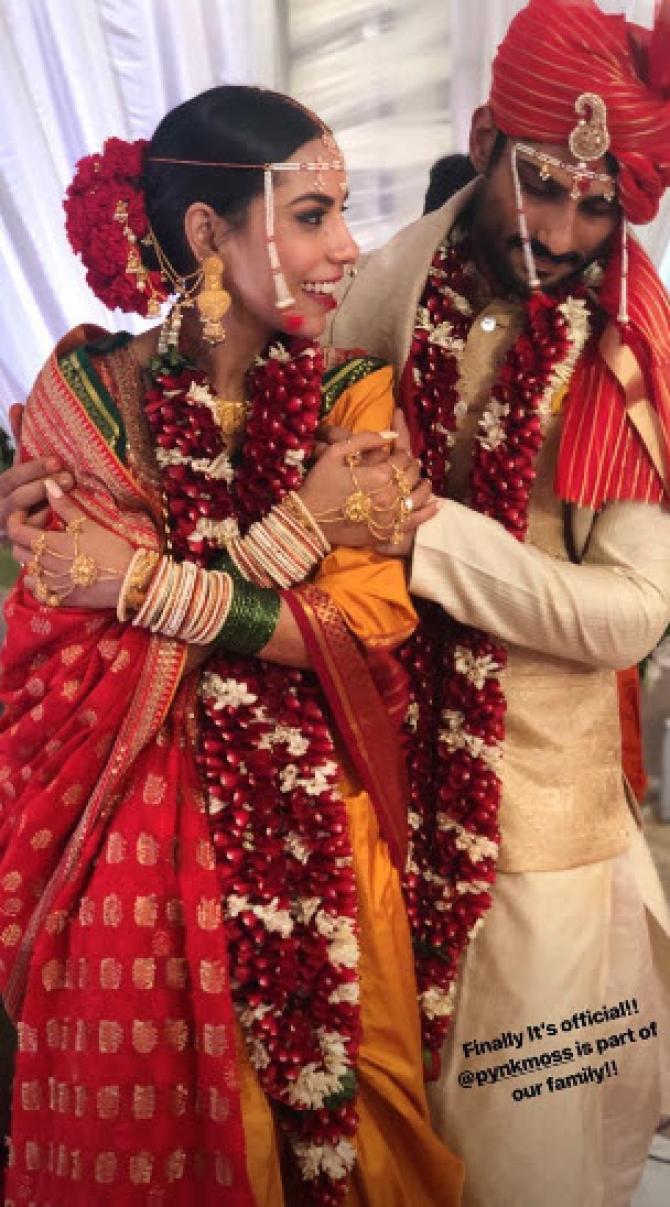 Prateik Babbar and Sanya Sagar wedding