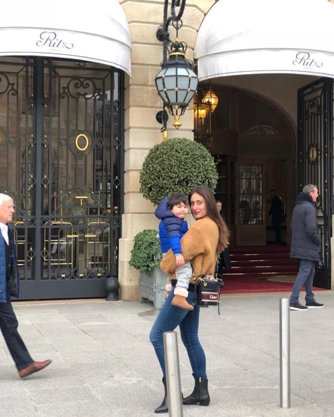 Taimur and Kareena in Paris