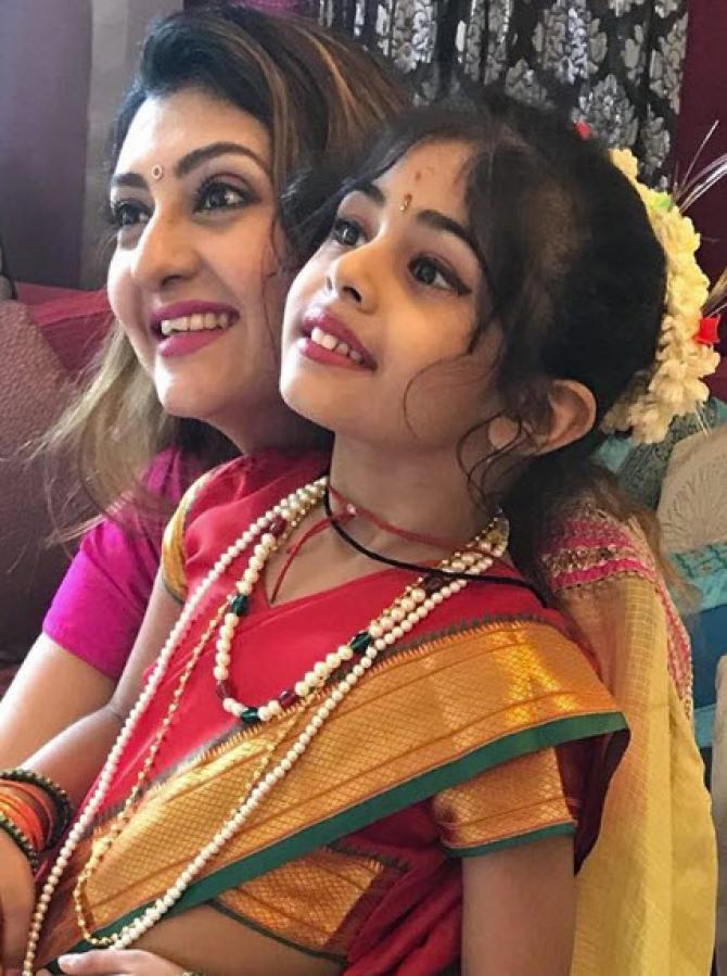 Juhi with daughter
