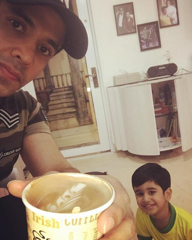Tusshar Kapoor with his son, Laksshya Kapoor