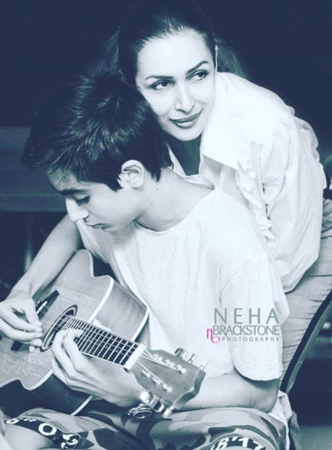 Arhaan Khan and Malaika Arora