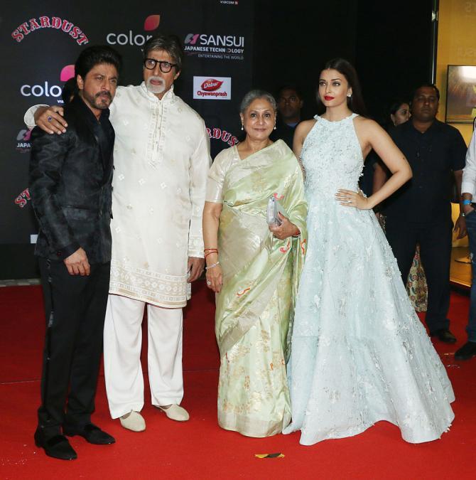 Jaya Bachchan and Shah Rukh Khan