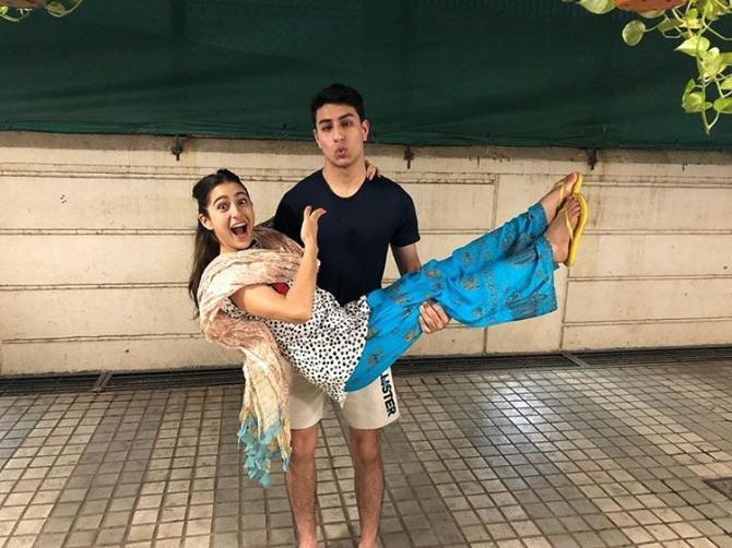 Sara Ali Khan and Ibrahim Ali Khan