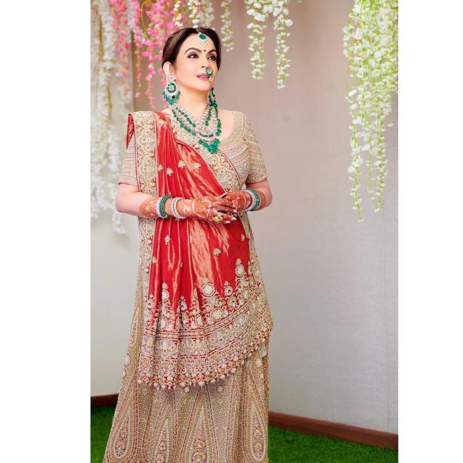 Nita Ambani For Akash Ambani and Shloka Mehta's Wedding