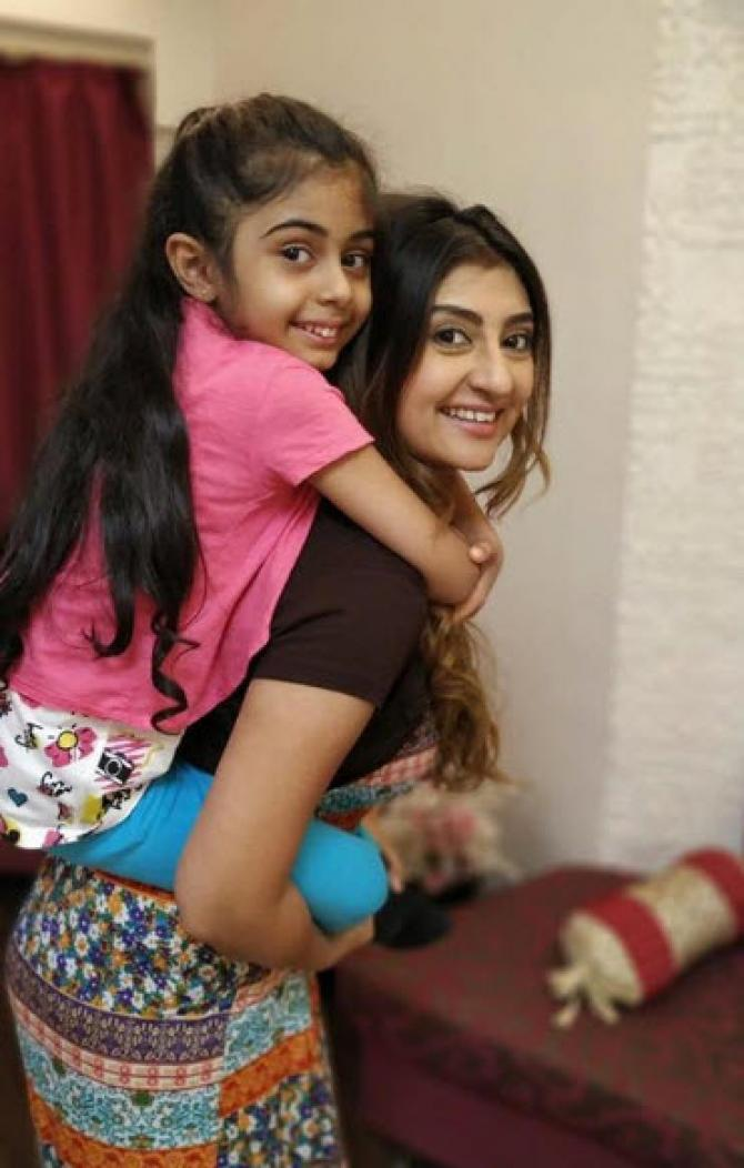 Juhi Parmer posted an adorable piggy-back picture with her daughter, Samairra