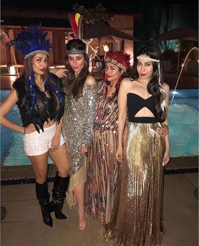 Kareena Kapoor Khan, Karisma Kapoor, Malaika Arora and Amrita Arora Ladak
