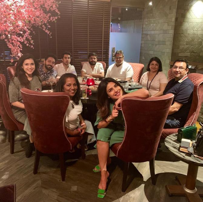 Chopra family dinner