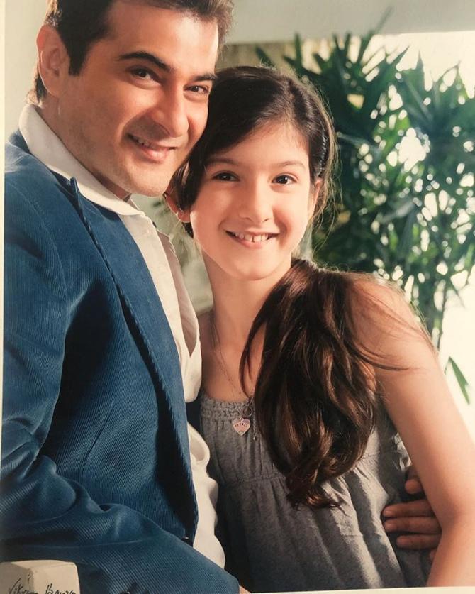 Sanjay Kapoor and Shanaya Kapoor